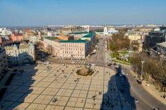 Sophievskaya fyrkant Fyrkant som namnges efter St Sophia Royaltyfri Fotografi