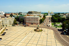 Sophievskaya square. In Kiev Ukraine taken from the bell tower Stock Photos