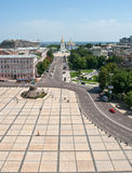 Sophievskaya square. In Kiev Ukraine taken from the bell tower Royalty Free Stock Image