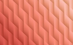 Gradient coral colors geometric lines angles abstract background design. Sophisticated abstract fractal background design featuring smooth geometric lines and Stock Photos