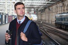Sophisticated businessman arriving at destination.  Stock Images
