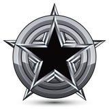 Sophisticated design geometric symbol, stylized pentagonal black Royalty Free Stock Photo