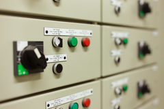 Sophisticated electrical switch gear Stock Photography
