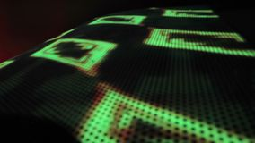 Sophisticated LED illumination, colored lights on the wall. Nightclub background stock footage