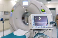 Sophisticated of MRI Scanner medical equipments in hospital.  royalty free stock photography