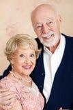 Sophisticated Senior Couple. Portrait of sophisticated senior couple dressed up for date Royalty Free Stock Photo