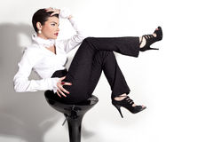 Sophisticated stylish women model Royalty Free Stock Photography