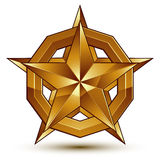Sophisticated vector golden star emblem, 3d decorative design el Stock Photo