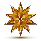 Sophisticated vector golden star emblem, 3d decorative design el. Ement, clear EPS 8 Stock Photos