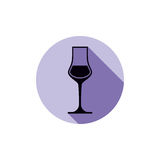 Sophisticated wine goblet, stylish alcohol theme illustration. C Stock Photo