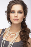 Sophisticated Woman with Ornamentation - Pearly Necklace Stock Image