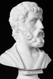 Sophocles (496 BC - 406 BC) was an ancient Greek tragedians. Of the classical era. White marble bust of him Royalty Free Stock Photo
