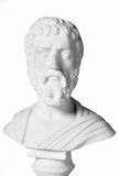 Sophocles (496 BC - 406 BC) was an ancient Greek tragedians. Of the classical era. White marble bust of him Stock Photography