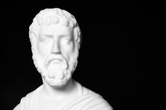 Sophocles (496 BC - 406 BC) was an ancient Greek tragedians. Of the classical era. White marble bust of him Royalty Free Stock Image