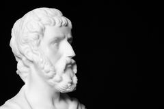 Sophocles (496 BC - 406 BC) was an ancient Greek tragedians. Of the classical era. White marble bust of him Royalty Free Stock Photos