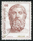 Sophocles. GREECE - CIRCA 1998: stamp printed by Greece, shows Sophocles, ancient writer, circa 1998 Royalty Free Stock Images