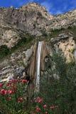 Sopino Wasserfall. L at Limone sul Garda Stock Image