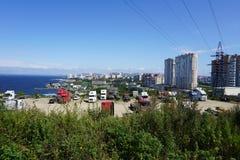Sopka Vladivostok Primorye Ryssland Arkivbild