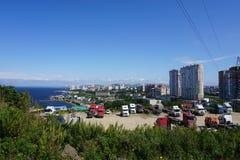 Sopka Vladivostok Primorye Ryssland Arkivfoton