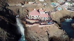 Sopladura del la Bufadora, atracción famosa Ensenada almacen de metraje de vídeo