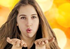 Soplar un beso Fotos de archivo libres de regalías