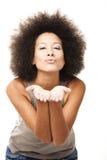 Soplar un beso Imágenes de archivo libres de regalías