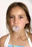 Soplar una burbuja fotografía de archivo libre de regalías