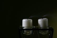 Sople hacia fuera las velas Imagenes de archivo