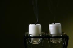 Sople hacia fuera las velas Imágenes de archivo libres de regalías