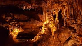 Soplenowie, stalagmity i kolumny w Luray Caverns, Virginia Zdjęcia Stock