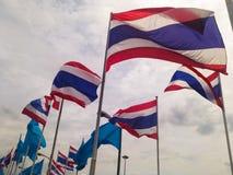 Soplo de la bandera de Tailandia Fotos de archivo libres de regalías