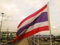 Soplo de la bandera de Tailandia Imagenes de archivo