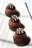 Soplo del brownie del chocolate Imagen de archivo