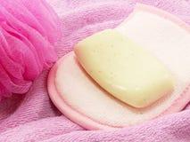 Soplo del jabón y del baño Imagen de archivo libre de regalías