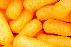 Soplo del queso Modelo de la comida de la textura del fondo del bocado de los soplos del queso Fotografía de archivo libre de regalías