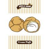 Soplo poner crema delicioso libre illustration