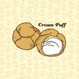 Soplo poner crema delicioso stock de ilustración