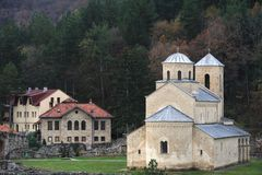 Sopocani monastery, Serbia. Serbian orthodox monastery Sopocani, UNESCO World Heritage Cultural site Royalty Free Stock Image