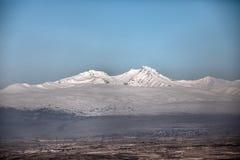 Soporte Aragats Imagen de archivo libre de regalías