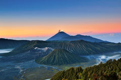 Soporte Bromo Volcano Sunrise View Foto de archivo libre de regalías