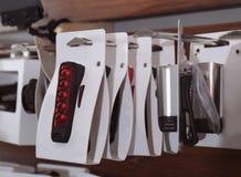 Soporte con los accesorios para la bicicleta Imagenes de archivo