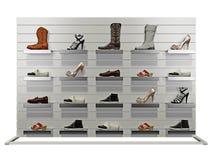 Soporte con los zapatos Foto de archivo libre de regalías