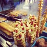 Soporte coreano de la comida Foto de archivo libre de regalías
