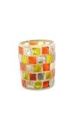 Soporte de cristal de la vela Fotos de archivo libres de regalías