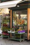 Soporte de flor hermoso en Génova, Italia Imagen de archivo libre de regalías