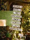 Soporte de fruta en Ojai Fotografía de archivo libre de regalías