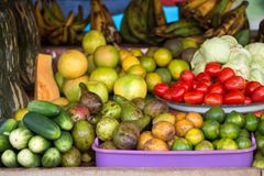 Soporte de fruta y verdura africano Imágenes de archivo libres de regalías