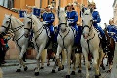 Soporte de guardia, Estocolmo, Suecia Foto de archivo libre de regalías