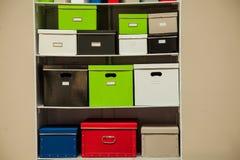 Soporte de la documentación con las cajas Imagen de archivo libre de regalías