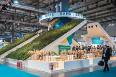Soporte de la expo 2015 en el pedazo Milán, Italia Imagen de archivo